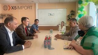 Встреча Вице-министра торговли и интеграции Республики Казахстан К.Торебаева с представителями Федеральной сети «Х5 Retail Group».