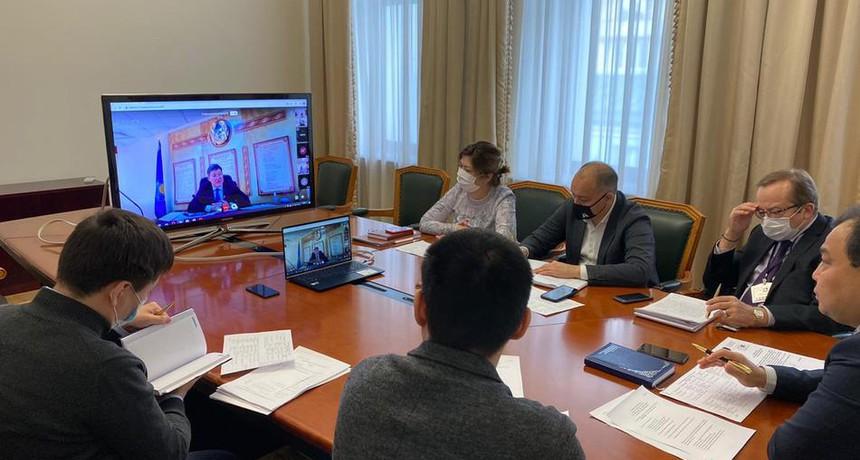 Онлайн совещание по вопросу экспорта плодоовощной продукции из Туркестанской области