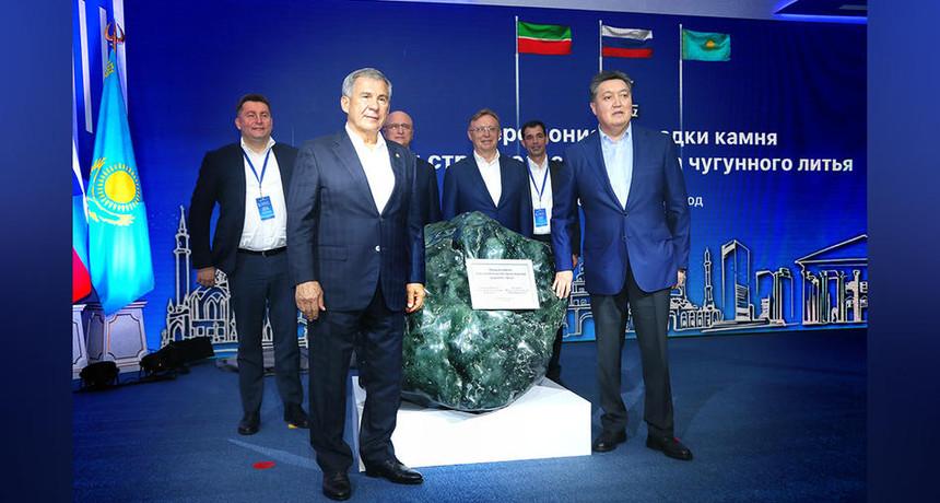 Премьер-Министр РК А.Мамин и Президент Татарстана Р. Минниханов дали старт трем проектам автомобилестроения